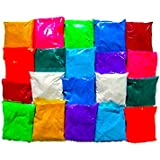 Set Of 4 Premium Quality Multi Color Rangoli Colors -50 Grams Each -Diwali Rangoli Color Powder For Floor Decoration(Free 2 Pouch Of Glitter Golden & Silver 10g And 100 Grams Of White Rangoli Color Powder)