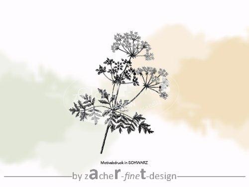 Gr Stempel mit Naturmotiv Pflanze Blume Silhouette *Motiv: Vintage Flower* - Bilderstempel - Motivstempel