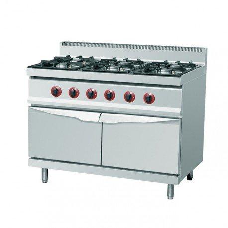 Cuisinière au gaz 6xbrûleurs (25,5 kW)