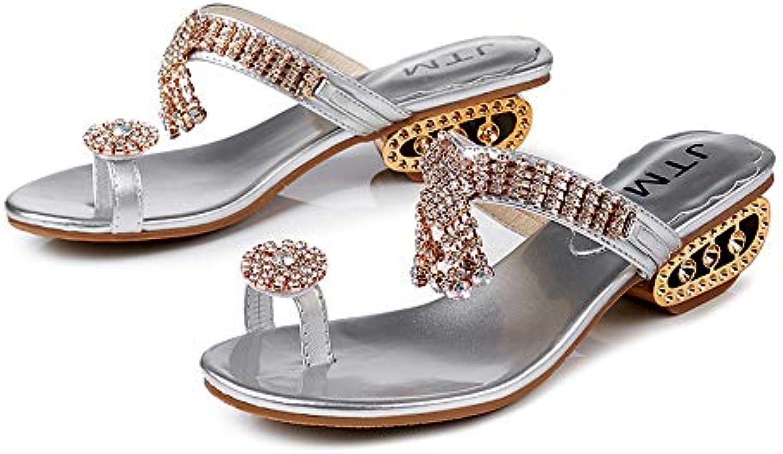 fangyou1314 des tongs les épaisses chaussures antidérapantes clip (couleur: (couleur: clip argent, taille: 4 royaume - uni) cd371d