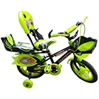 Kids Cycles Size-14 Inchs Kids Sports Cycle for Boys and Girls(Unisex) Colours -Neon Green 3-6 Year