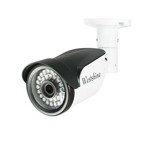 Westshine Cámara IP de Seguridad,3MP/2MP PoE (Power Over Ethernet) Cámara IP Bullet, Nube P2P, Detección de Movimiento,36pcs IR Leds Visión Nocturna de 30 Metros