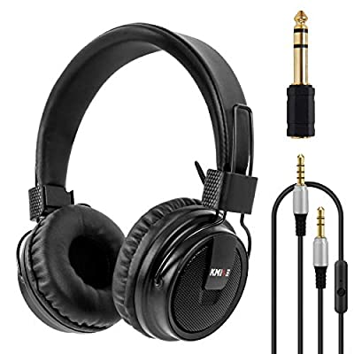 Headset Stereo Headphones Foldable Super Bass Full Sized Over-Ear Earphones for PC Phone By Kmise