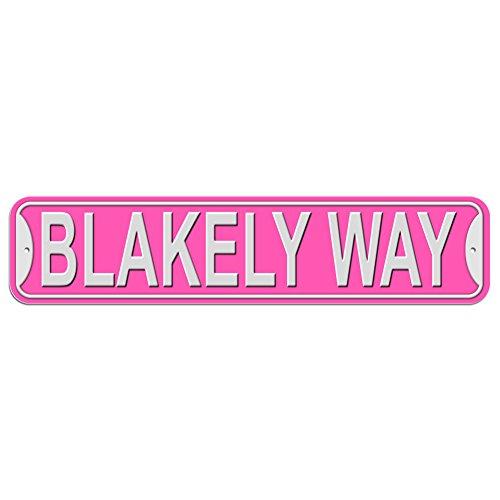 Blakely Schild–Kunststoff Wand Tür Street Road weiblich Name, plastik, rose, Way