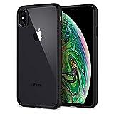 Spigen Ultra Hybrid, iPhone XS Max Hülle, Einteilige Transparent Handyhülle Durchsichtige PC Rückschale mit Silikon Bumper Schutzhülle Case für iPhone XS Max (6.5 Zoll) 2018 (Matte Black) 065CS25128