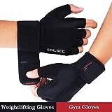 Fitness Handschuhe Gewichtheben, Full Palm Protection & Extra Grip Atmungsaktive Anti-Rutsch, Gewichtheben-Handschuhe Gym Handschuhe für Workout-Übung Gewichtheben Training Fitness, für Männer und Frauen (L)