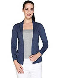 bddb44707fb IN Love Women Girl s Cotton Formal Shrugs with Pocket   Full Sleeves  (Assorted)