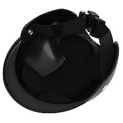 UEETEK Pet Dog Helmet Dog Motorcycles Bike Sun Rain Protection Hat Size S (Black) by UEETEK