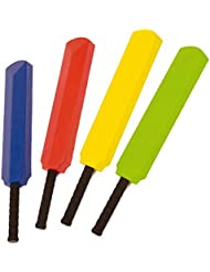 tufskin Junior deporte equipo juegos al aire libre tacto suave con revestimiento de espuma bate de críquet, amarillo