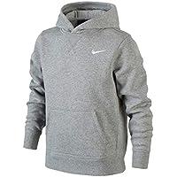 Nike Sweatshirt Young Athlete 76 Brushed Fleece Over The Head Sudadera con Capucha, niño, Gris/Blanco, L