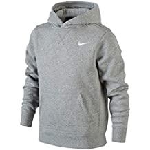 Nike Brushed Fleece Over The Head Sudadera, Niños, Gris (Dark Grey Heather/