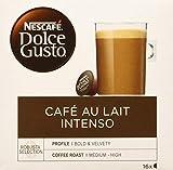 Nescafé Dolce Gusto - Café Con Leche Intenso, 16 cápsulas x 10 g, Total de 160 g
