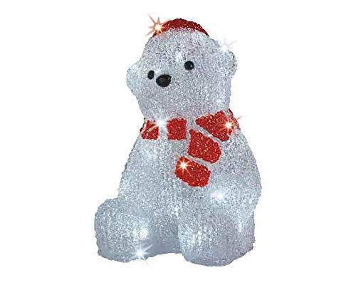"""LED Beleuchtung""""Eisbär mit Schal"""" Weihnachtsbeleuchtung außen Weihnachtsfigur Garten Beleuchtung Weihnachten Outdoorfigur Gartenfigur"""