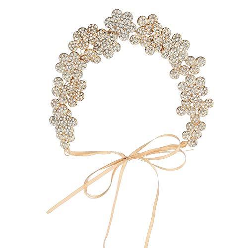 Haarschmuck Für Hochzeit Perlen Krone Haarband Braut Diadem Rundes Blumenbrautzubehör -