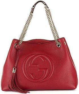 Gucci bolsos con asas largas para compras mujer en piel nuevo soho rojo