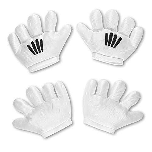 Widmann 04119 Cartoon-Handschuhe, Unisex- Erwachsene, weiß, Unica