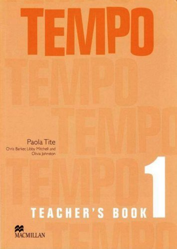 Tempo 1 Teacher's Book by Barker C (2005-06-08)