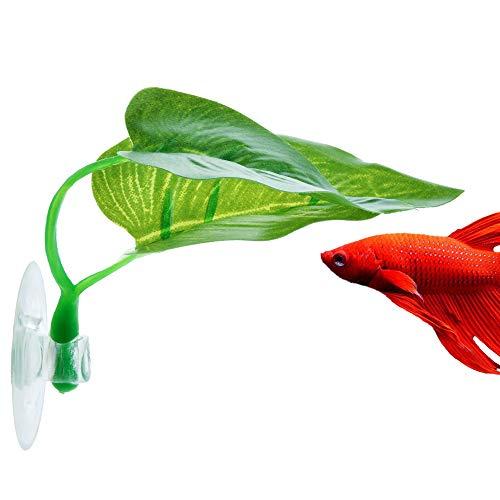 NIBESSER Aquarium Künstliche Pflanzen Betta Bed Wasserpflanzen Dekorationen für Betta Kampffische 1 PC Fish Tank Wasser Pflanze Kunststoff Dekoration ... (Betta Wasser)