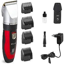 Ceramics RFC-208 elektrische Haarschneidemaschine mit Turbo-Sense-Technology und 4 Aufsätzen für 25 Schnittlängen drahtlos, wiederaufladbar, leise