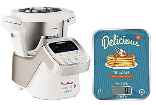 Moulinex HF9001 i-Companion Robot Multifunzione da Cucina, Connesso alla sua App + Bilancia da cucina Tefal Optiss Delicious Pancakes
