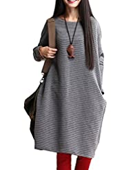 Vogstyle Mujer Top Largo del Batwing Jumper