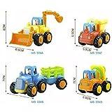 Friend&fun Mini Friction Powere 1 Tractor With Bulldozer & Dumper Multi Color.