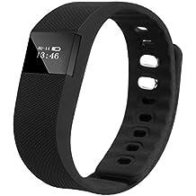 Fulltime (TM) Unisex deportes inteligente muñequera Sleep fitness Actividad Rastreador podómetro reloj de pulsera, hombre mujer Infantil, negro