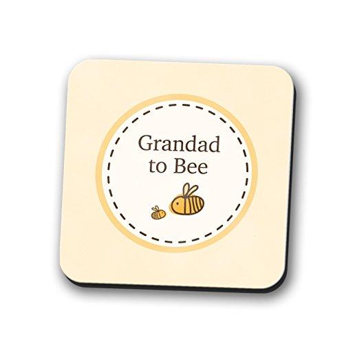 'Grandad to Be Untersetzer Tischset New Baby Dusche Geschenk Bumble Bee quadratisch 9cm x 9cm