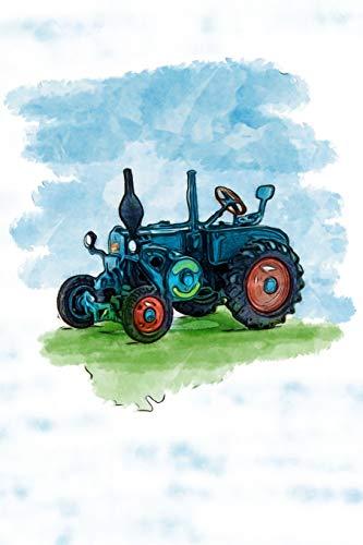 Alte Traktoren Notizbuch: Schlepper, Agrargeräte, Alte Landmaschinen, Trecker, Bulldog Traktor - Buch für Notizen