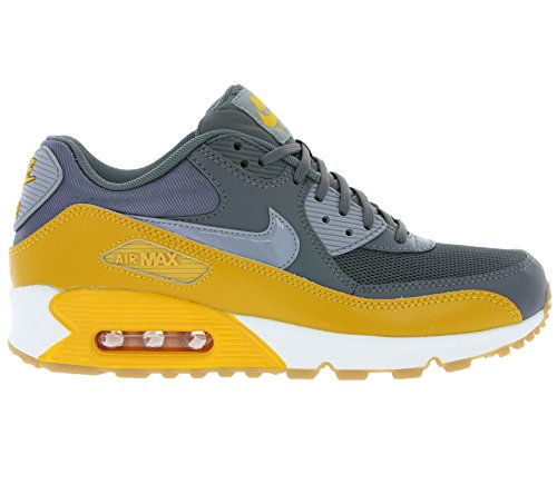 Nike Air Max 90 616730, Damen Low-Top Sneaker Grau (Dunkelgrau / Stlth-Gld Lf-Smmt Wht)