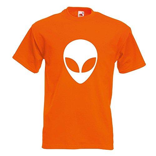 KIWISTAR - Alien T-Shirt in 15 verschiedenen Farben - Herren Funshirt bedruckt Design Sprüche Spruch Motive Oberteil Baumwolle Print Größe S M L XL XXL Orange