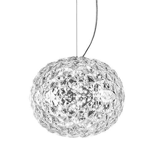 Kartell 9390/B4 Planet Lampada a Sospensione,22W LED, 31x27 cm, Cristallo
