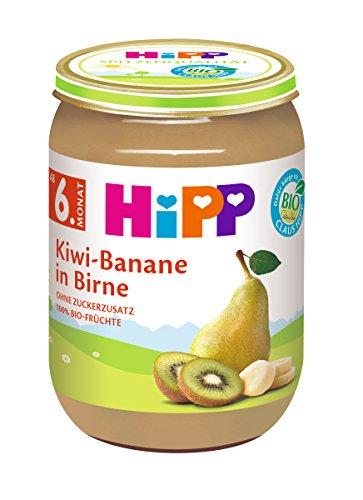 HiPP Früchte Kiwi-Banane in Birne, 6er Pack (6 x 190 g)
