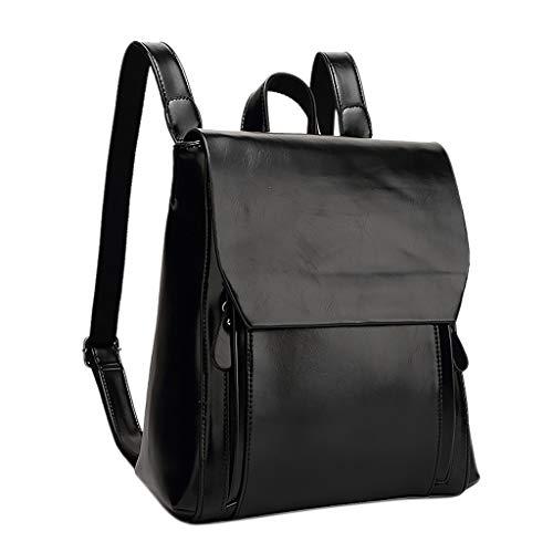 Damen Unisex Student Schulrucksack Rucksack Backpack Schultasche handbag, MultifunktionstascheFrauen-Lederhandtasche weiches Gesicht Mode Retro ()