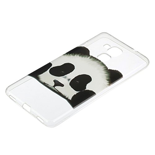 Ukayfe Custodia per Huawei Honor 5C,Ultra Slim TPU Gel Gomma Silicone Copertura Case per Huawei Honor 5C,Moda Serie Pattern Back Cover Crystal Skin Custodia Stilosa custodia di design Protettiva Shell Panda