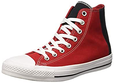 Converse Unisex's Enamel Red/Black/White sneakers-11 UK/India (45 EU) (8907788162758)