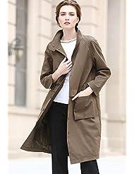 YRF Robes d'automne et d'hiver. Manteau de couleur unie. Manches longues slim Trench-Coat