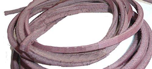 eCobbler Hochwertige Schnürsenkel für Schuhe oder Leder-Stiefel, 120cm rot Oxblood (Oxblood Stiefel Leder)