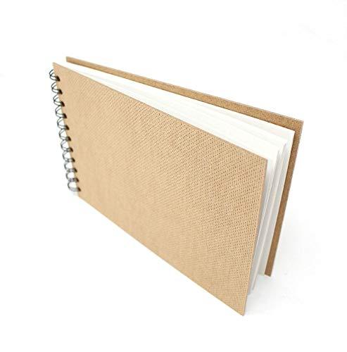 Artway Enviro - Skizzenbuch mit Spiralbindung - 100% Recycling-Zeichenpapier - Hardcover - 35 Blatt mit 170 g/m² - A5 Querformat