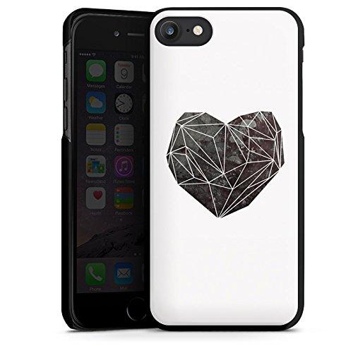 Apple iPhone X Silikon Hülle Case Schutzhülle Liebe Herz Love Hard Case schwarz