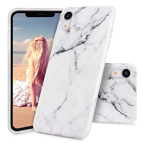 Imikoko iPhone XR Marmor Hülle, Matt Weich Silikon Handyhülle Stein,Marmor 2