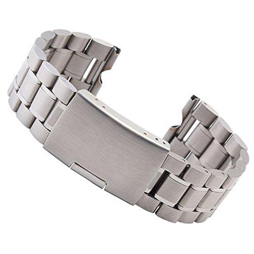 18 mm Edelstahl Uhren Metallband Silber - 18mm Armband Uhrband Uhrenarmband Uhrenband Metall
