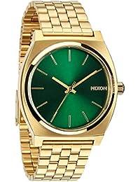 Nixon Time Teller, Nixon Reloj para Hombre Acero Inoxidable Official Oro - Verde