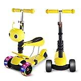 SPFTOY Scooter Trois-en-Un pour Enfants Scooter Trois-Roues Scooter Pliable, relevable et Pliable Walke pour Enfants