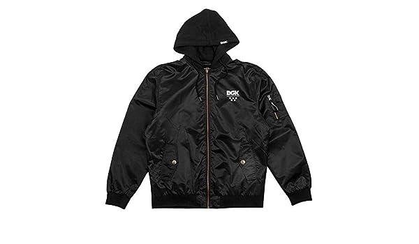 DGK Mens Shut Out Varsity Fleece Long Sleeve Jacket Black