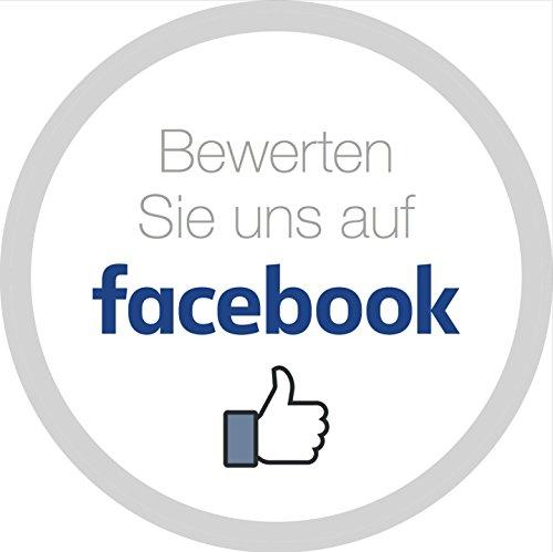 Aufkleber - Sticker Bewerten Sie uns auf facebook