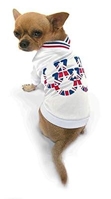 """Dog T-Shirt,Union Jack Flag Horseshoes - size 12"""""""