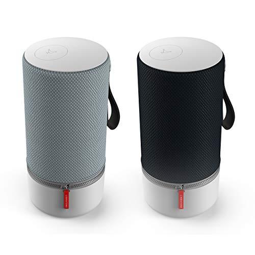 ZIPP 2  MultiRoom Bundle - 2 Stück Smart Wireless Lautsprecher (mit Alexa Integration und AirPlay 2) stormy black + frosty grey