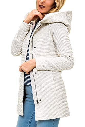 ONLY Damen Übergangsmantel Kurzmantel mit Kapuze (M, Colour 4)