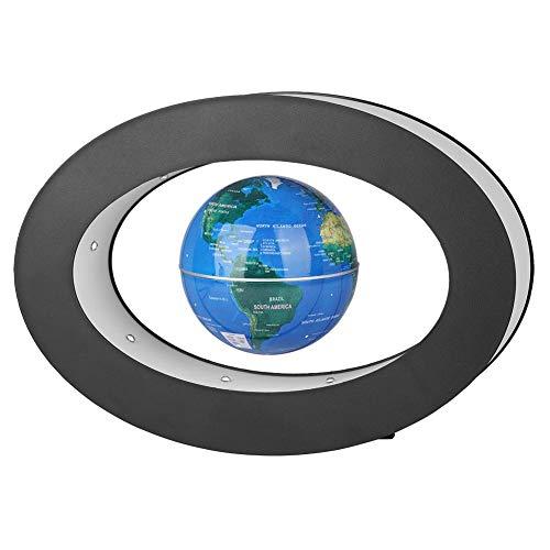 Fdit Globus Magnetisch Magnetschwebebahn Floating Globe Neuheit Electronic mit LED-Licht Home Office Display Geschenk Xmas Geburtstagsgeschenk(Blau)